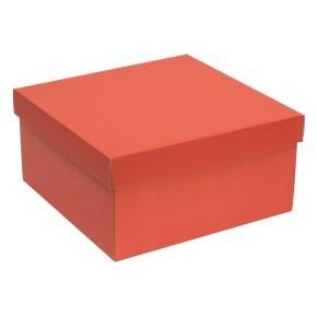 Dárková krabice s víkem 300x300x150/40 mm, korálová