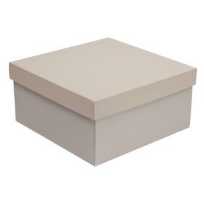 Dárková krabice s víkem 300x300x150/40 mm, šedá
