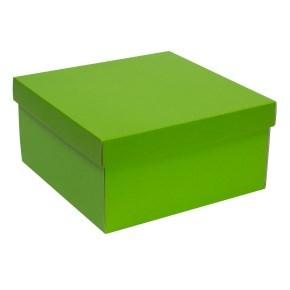 Dárková krabice s víkem 300x300x150/40 mm, zelená