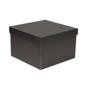 Dárková krabice s víkem 300x300x200/40 mm, černá