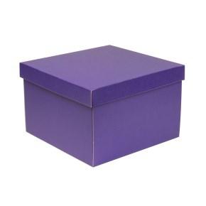 Dárková krabice s víkem 300x300x200/40 mm, fialová