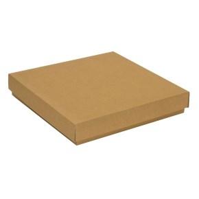 Dárková krabice s víkem 300x300x50/40 mm, hnědá - kraftová