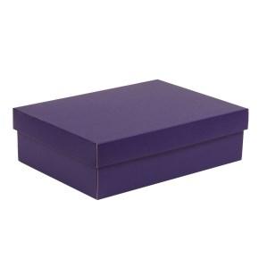 Dárková krabice s víkem 350x250x100/40 mm, fialová