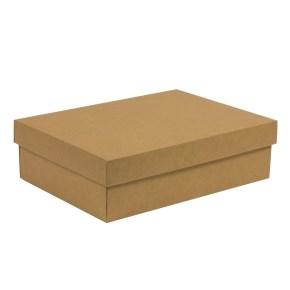 Dárková krabice s víkem 350x250x100/40 mm, hnědá - kraftová