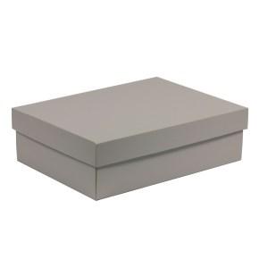 Dárková krabice s víkem 350x250x100/40 mm, šedá