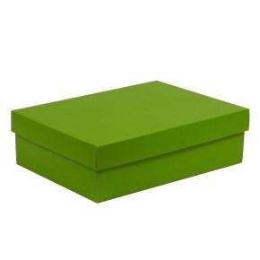 Dárková krabice s víkem 350x250x100/40 mm, zelená