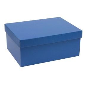 Dárková krabice s víkem 350x250x150/40 mm, modrá
