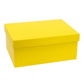 Dárková krabice s víkem 350x250x150/40 mm, žlutá