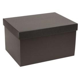 Dárková krabice s víkem 350x250x200/40 mm, černá
