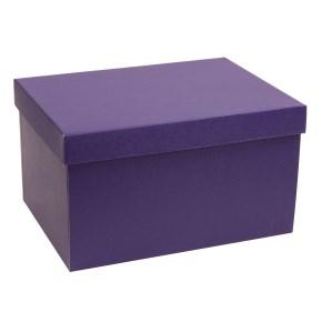 Dárková krabice s víkem 350x250x200/40 mm, fialová
