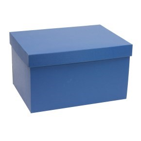 Dárková krabice s víkem 350x250x200/40 mm, modrá