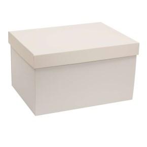 Dárková krabice s víkem 350x250x200/40 mm, šedá