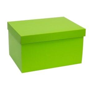 Dárková krabice s víkem 350x250x200/40 mm, zelená