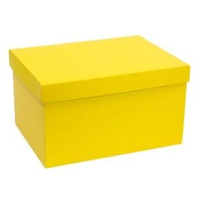 Dárková krabice s víkem 350x250x200/40 mm, žlutá