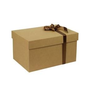 Dárková krabice s víkem 350x250x200 mm, kraftová