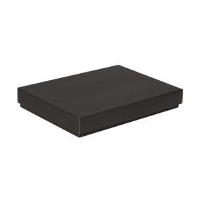 Dárková krabice s víkem 350x250x50/40 mm, černá