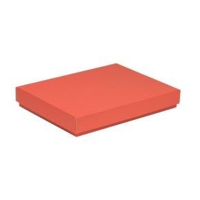 Dárková krabice s víkem 350x250x50/40 mm, korálová