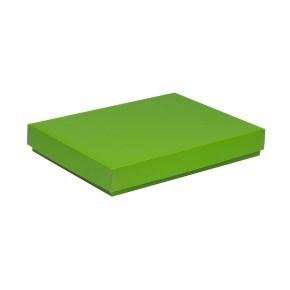 Dárková krabice s víkem 350x250x50/40 mm, zelená