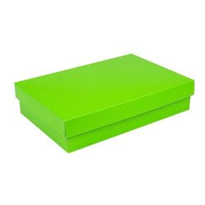 Dárková krabice s víkem 380x270x90/35 mm, zelená matná