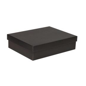 Dárková krabice s víkem 400x300x100/40 mm, černá