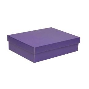 Dárková krabice s víkem 400x300x100/40 mm, fialová