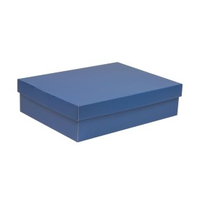Dárková krabice s víkem 400x300x100/40 mm, modrá