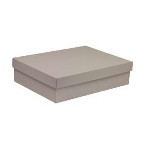 Dárková krabice s víkem 400x300x100/40 mm, šedá