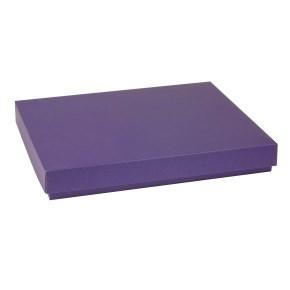 Dárková krabice s víkem 400x300x50/40 mm, fialová
