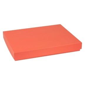 Dárková krabice s víkem 400x300x50/40 mm, korálová