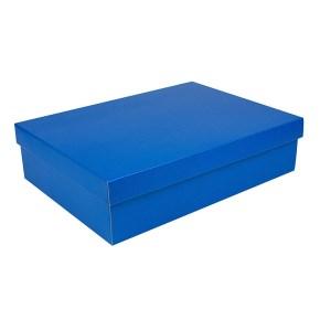 Dárková krabice s víkem 405x290x100/35 mm, modrá matná