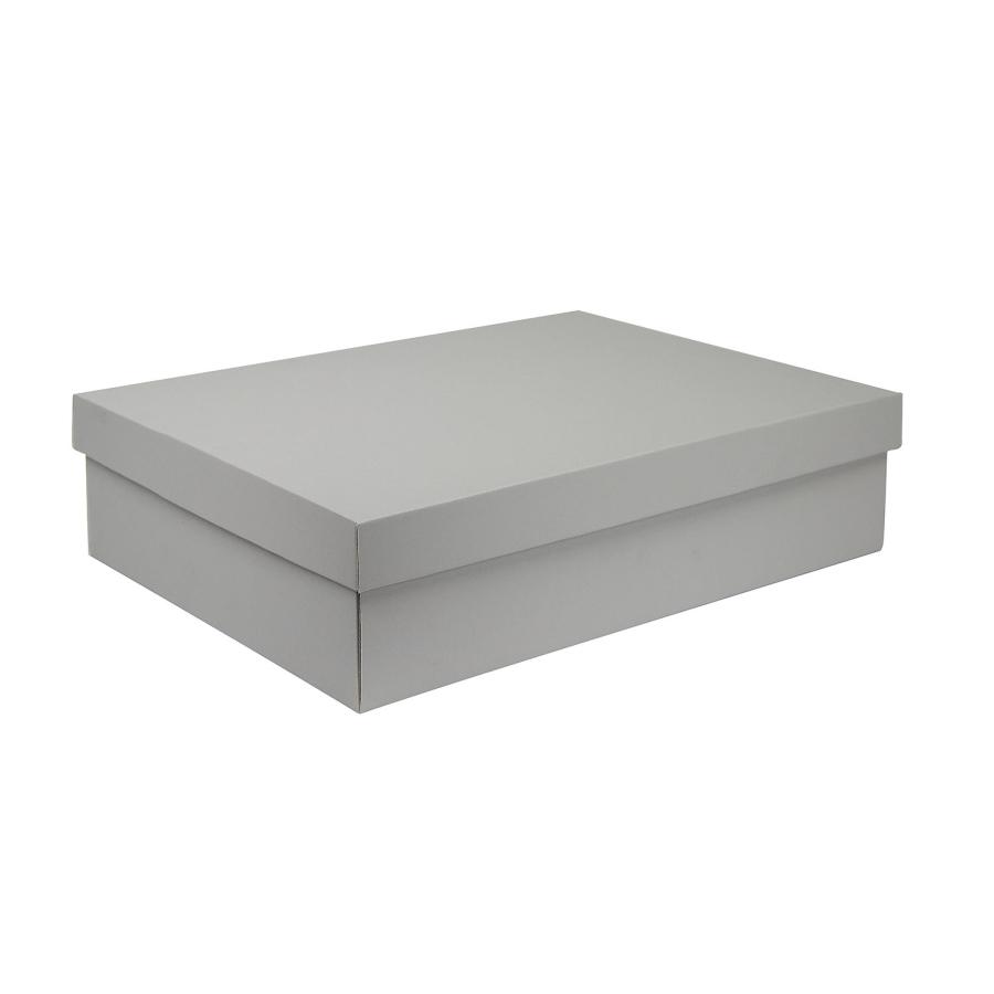 f5ebc5ee0 Dárková krabice s víkem 405x290x100/35 mm, šedá matná