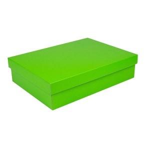 Dárková krabice s víkem 405x290x100/35 mm, zelená matná