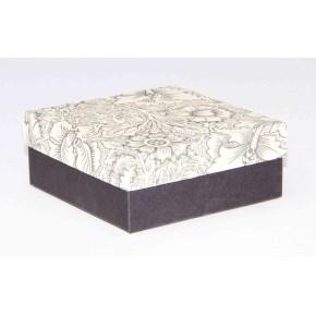 Dárková krabička 110x110x45 mm, dekor 141, černé dno