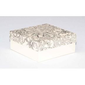 Dárková krabička 110x110x45 mm, dekor 141, krémové dno