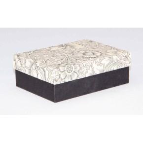 Dárková krabička 130x90x45 mm, dekor 141, černé dno