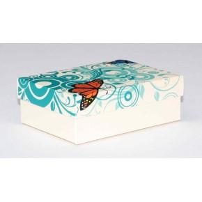 Dárková krabička 130x90x45 mm, dekor 145, krémové dno