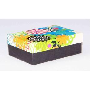 Dárková krabička 130x90x45 mm, dekor 146, černé dno