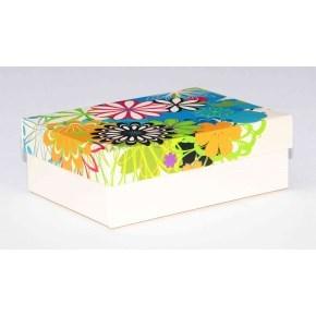 Dárková krabička 130x90x45 mm, dekor 146, krémové dno