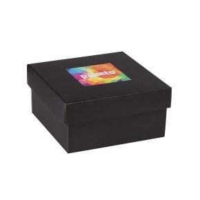 Dárková krabička 200x200x100/40 mm, tisk na víko 100x100 mm, černá