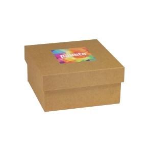 Dárková krabička 200x200x100/40 mm, tisk na víko 100x100 mm, kraftová