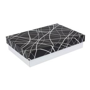Dárková krabička 380x270x90/35 mm, se vzorem na víku