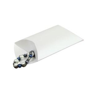 Dárková krabička čočka, pukačka 140x130x40 mm, bílá perleť