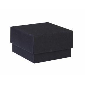Dárková krabička dno a víko 40x40x25 mm, černá