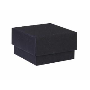 Dárková krabička dno a víko 50x50x30 mm, černá