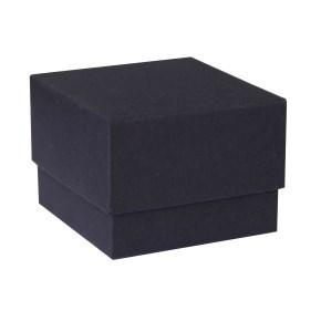 Dárková krabička dno a víko 70x70x35 mm, černá