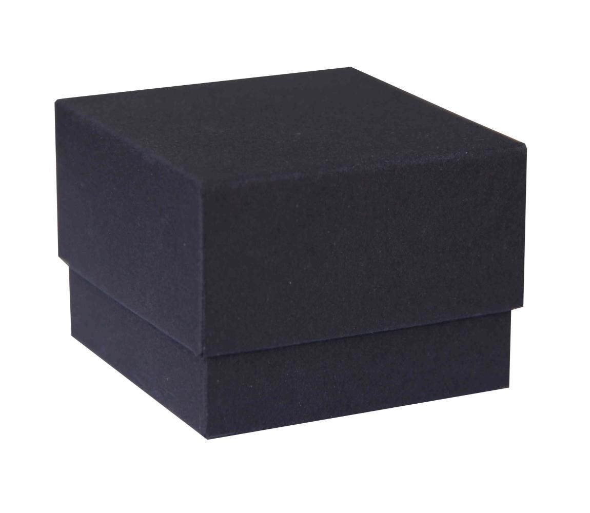 b3c649f4a Dárková krabička dno a víko 70x70x35 mm, černá