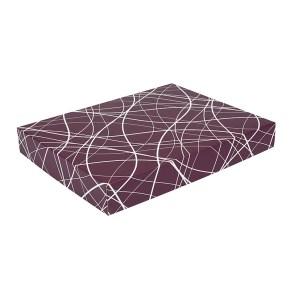 Dárková krabička na košile 380x285x50/35 mm, vínová se vzorem na víku