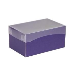 Dárková krabička s průhledným víkem 200x125x100/40 mm, fialová