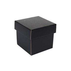 Dárková krabička s víkem 100x100x100/35 mm, černo šedá matná