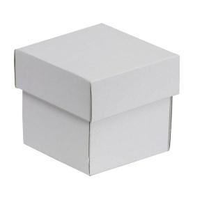 Dárková krabička s víkem 100x100x100/40 mm, bílá